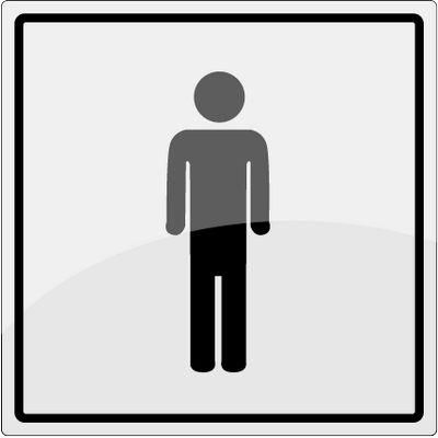 Herre toilet piktogram i rustfrit stål - Køb online -