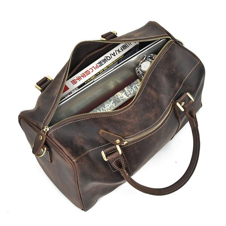 Overview: Design: Genuine Leather Mens Cool Weekender Bag Travel Bag Duffle Bags Overnight Bag Holdall Bag for menIn Stock: Ready to Ship(2-4 days)Include: On