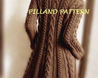Blazer veste femme tricot pull cardigan boutonné par PillandPattern