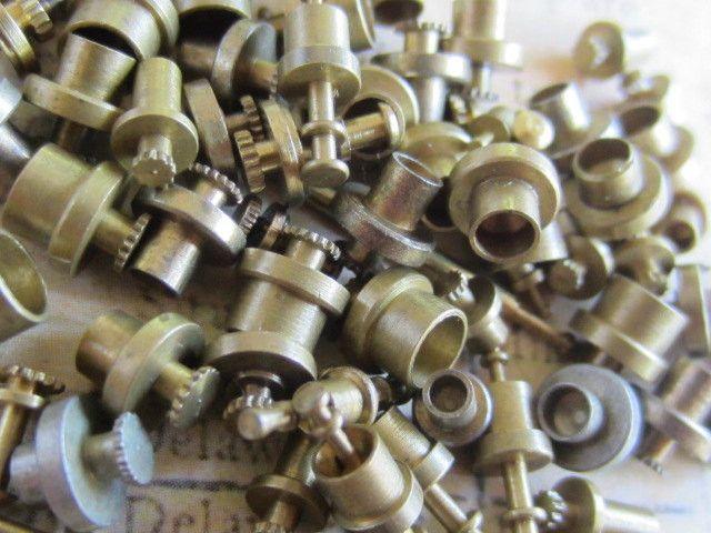 Vintage Brass Clock parts spindles - levers - Robot mix - t5