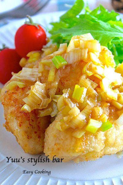 鶏むね肉で作る♡『うま塩唐揚げの柚子ネギソース』♪ヘルシーなのに ...