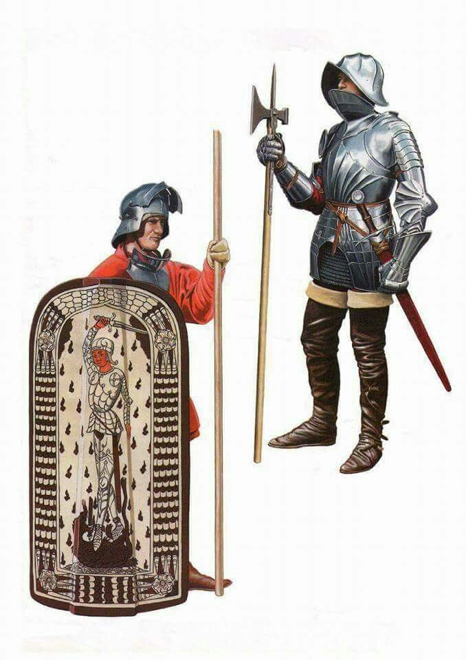 The black army of hungary was a standing (rare at the time) of the kingdom of hungry they wore black armor