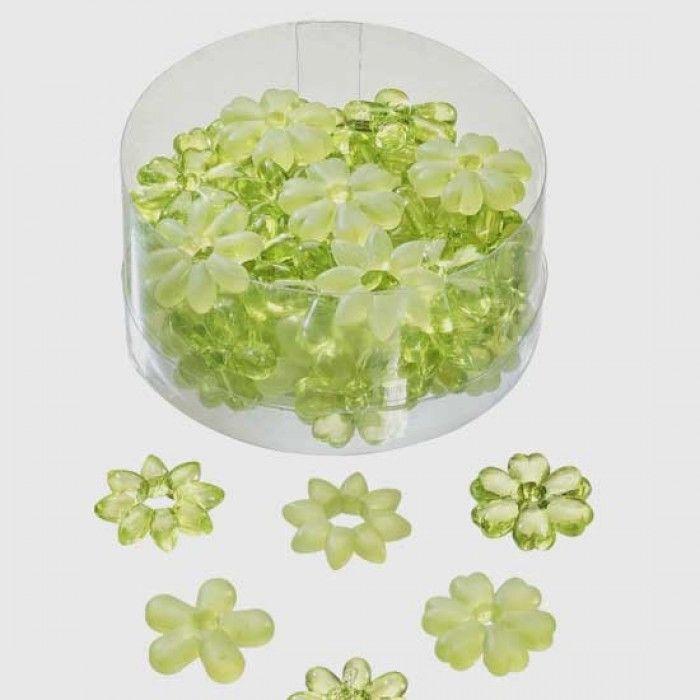 Pakke med rigtig flotte og søde lime grønne blomster som er perfekte som pynt og bordpynt fra Sjovogkreativ.dk