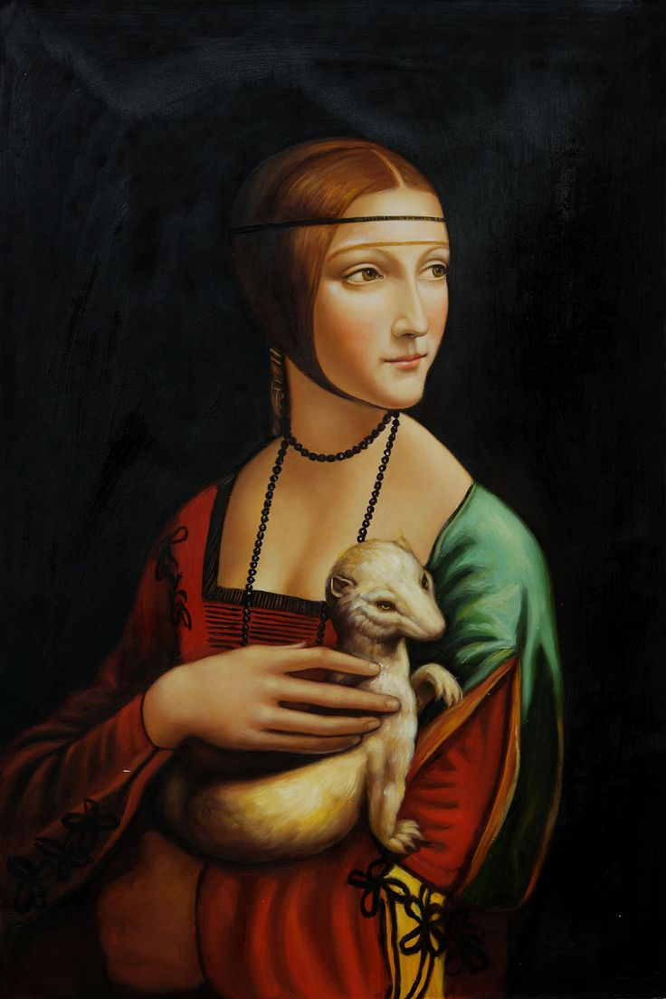 Da Vinci - Lady With an Ermine. At Wawel Castle in Krakow, Poland.