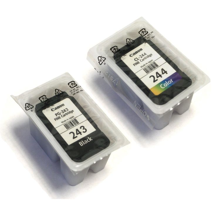 CANON PG-243 Black + CL-244 Color Ink Cartridge Combo Kit ...