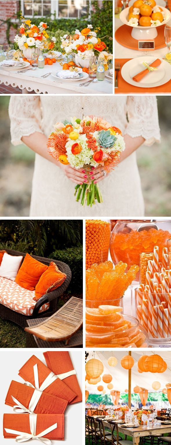 Orange Colored Fall Weddings | The Destination Wedding Blog - Jet Fete by Bridal Bar