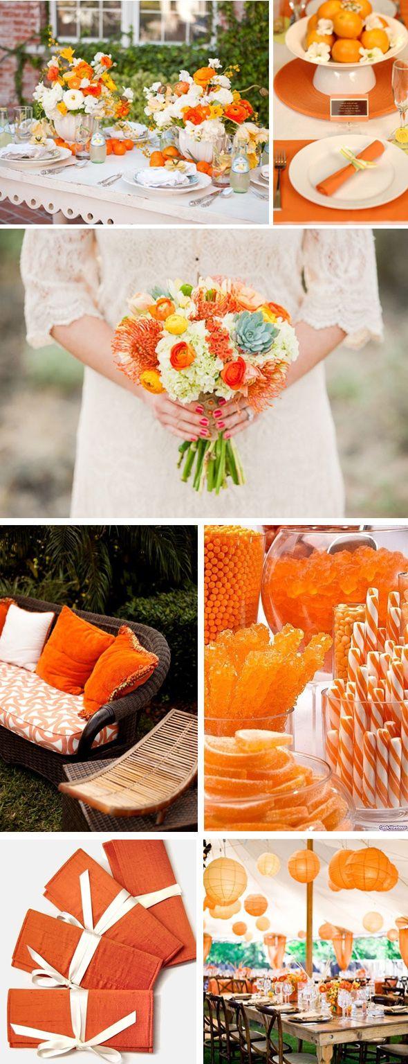 orange weddings.  Tropical wedding
