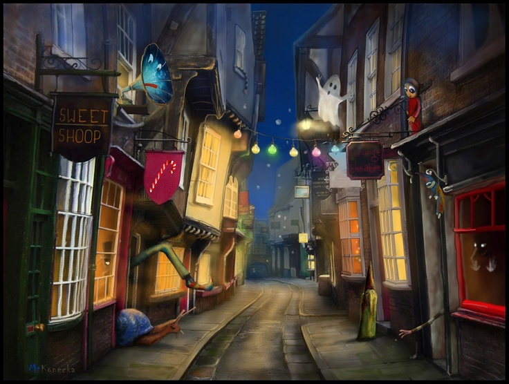 'The Shambles' ; York ; illustration ; www.matyldakonecka.com