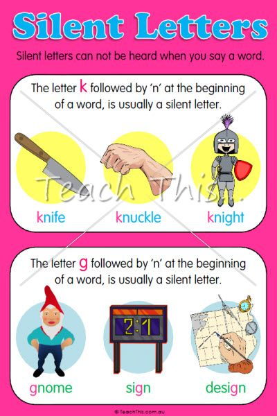 17 best images about silent letters on pinterest activities classroom games and children. Black Bedroom Furniture Sets. Home Design Ideas