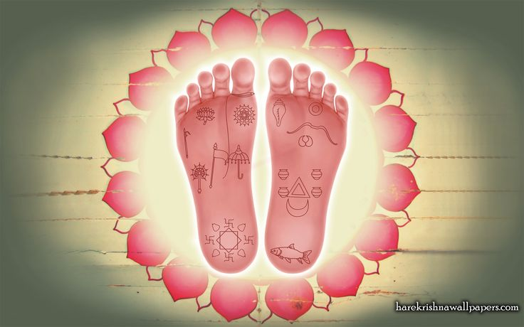 To view Lotus Feet wallpapers in difference sizes visit - http://harekrishnawallpapers.com/sri-krishna-lotus-feet-artist-wallpaper-001/