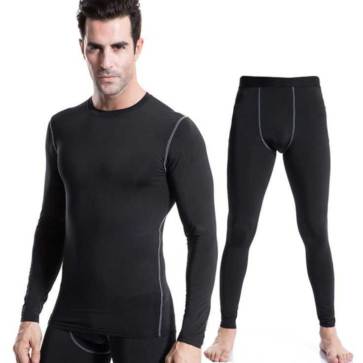 New Winter Thermal Fleece Men's Compression Running Tights Gym Clothing Base Layer Fitness Pants Training Leggings Tight Pants