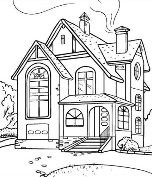 15 Materi Mewarnai Gambar Rumah Sederhana | Unik9.com