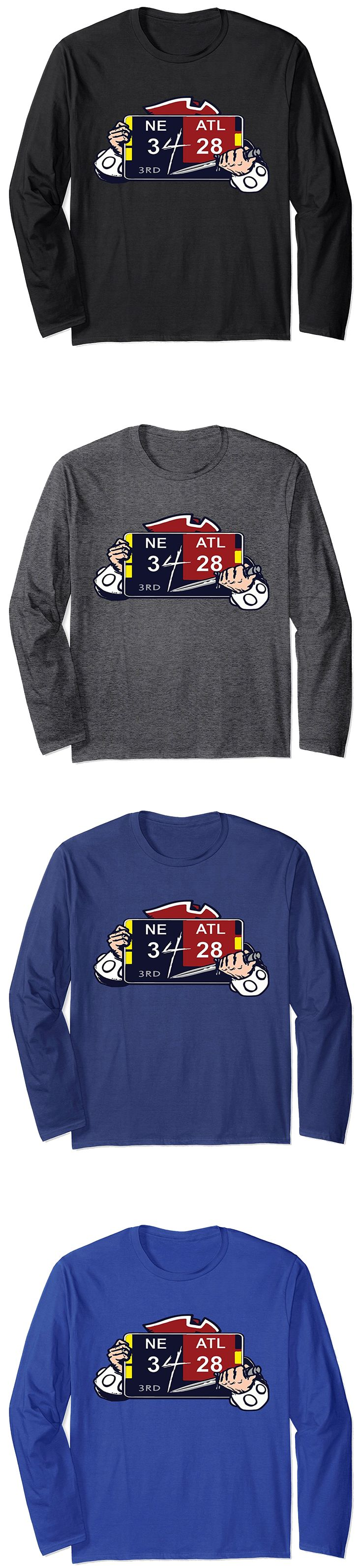 Premium Unisex New England Patriots NE 3 ATL 28 Final Score Long-sleeve T-Shirt. Available in 5 different colors. Get yours today on Amazon.