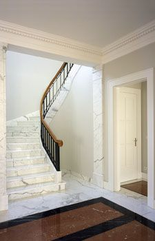 Classical Marble Staircase By Kahlfeldt Architekten.