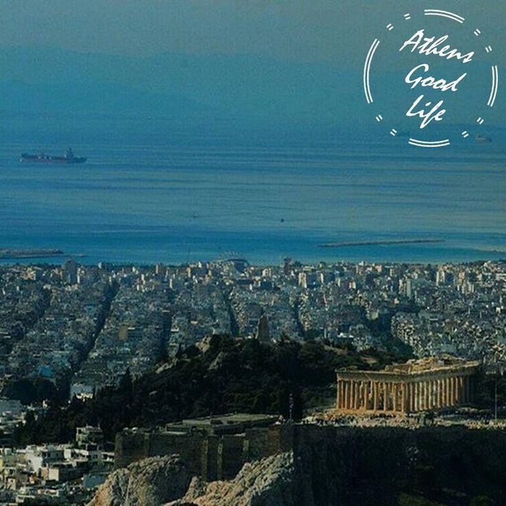 Both the @Acropolis and the sea in one picture.  #AthensGoodLife #CityBreakAgenda #visitAthens #travel #Athens  Photo @kallia__k