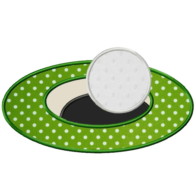 Hole in One Golf Applique