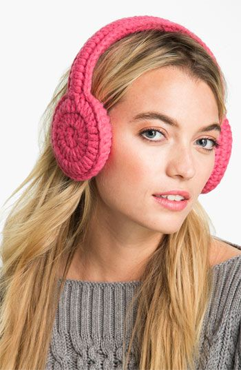 I want to learn to crotchet so I can make these..and hats..and blankets :)   (kate spade new york 'women for women' earmuffs) available at #Nordstrom
