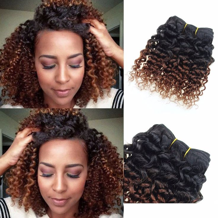 1069 best amazing curly hair images on pinterest hairstyles 4packs200g 8 brazilian virgin ombre human hair extensions weave kinky curly pmusecretfo Images