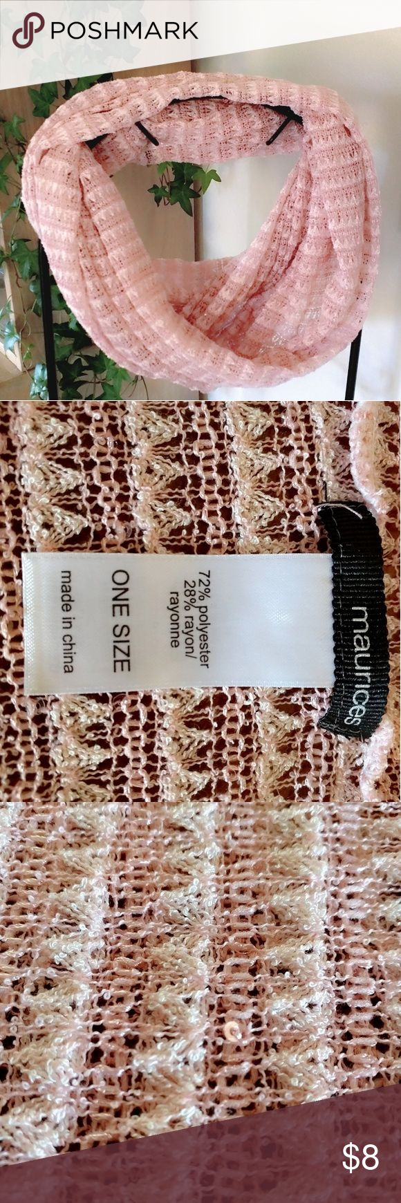 Spotted while shopping on Poshmark: Maurices Pink Knit Infinity Scarf! #poshmark #fashion #shopping #style #Maurices #Accessories
