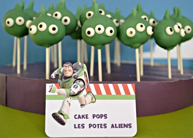 Cake pops at a Buzz Lightyear Birthday Party!  See more party ideas at CatchMyParty.com!