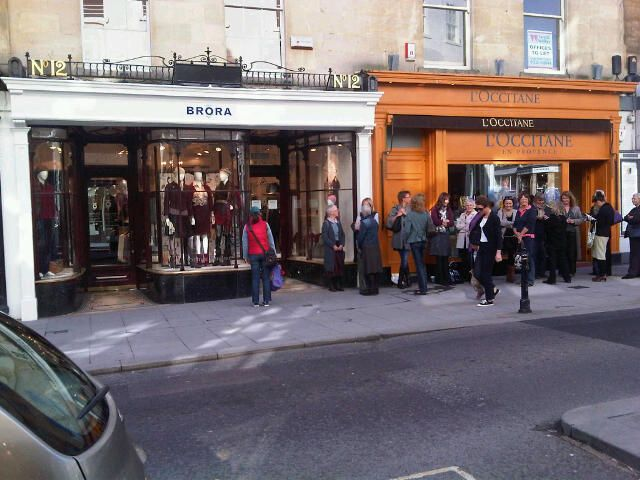 Brora launch in Bath with a large queue in 2010