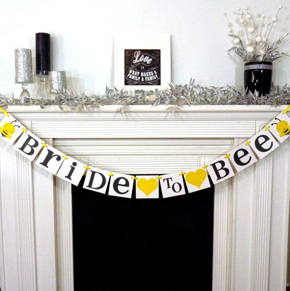 Bridal Shower Banner / Bee Themed / Bride To Bee by BannerCheer