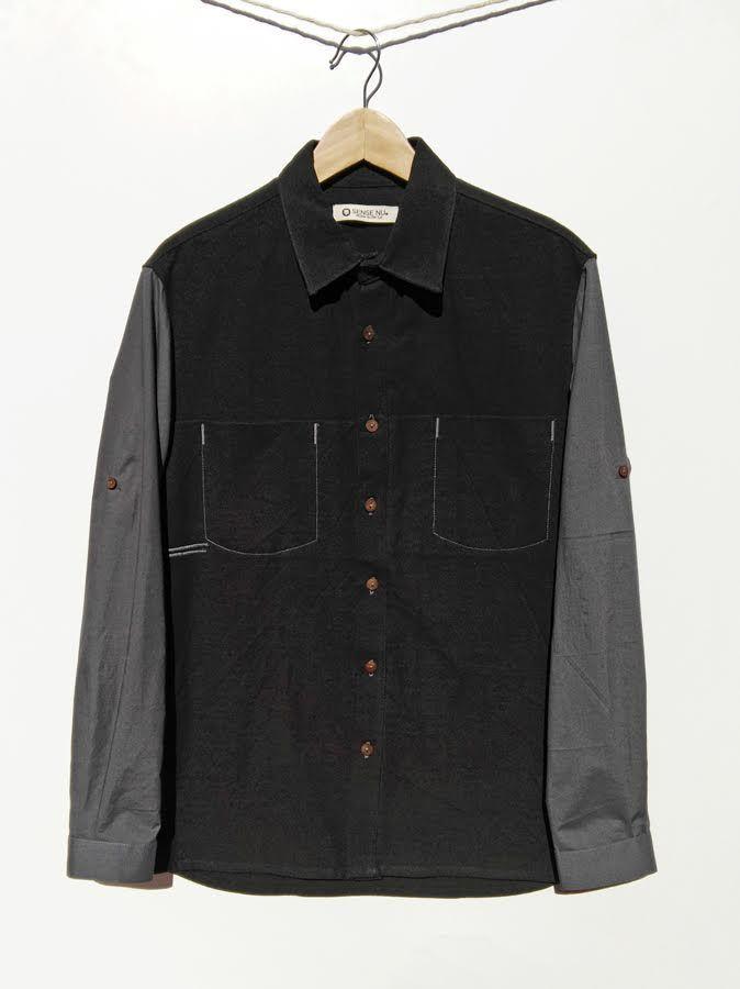Camisa negra de algodón orgánico 110,00€