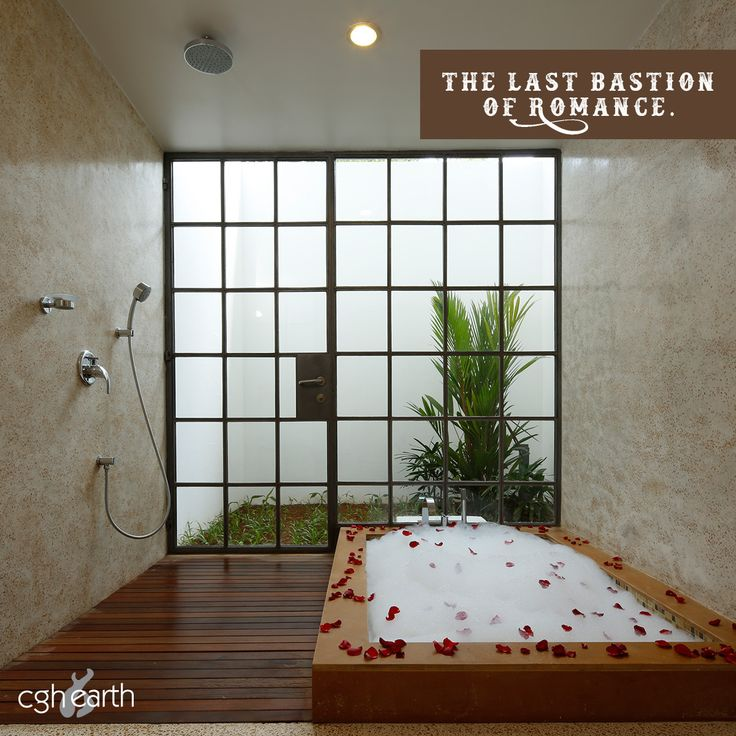 The luxurious bathroom at Eighth Bastion hotel in Fort Kochi, India.
