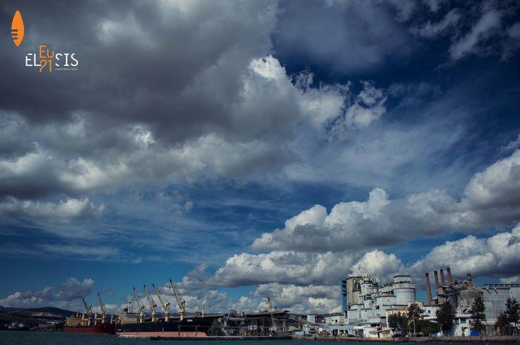 #Eleusis2021 #EUphoria #ECoC2021 #Eleusis #Ελευσίνα #port #sky #clouds © Anasta_V