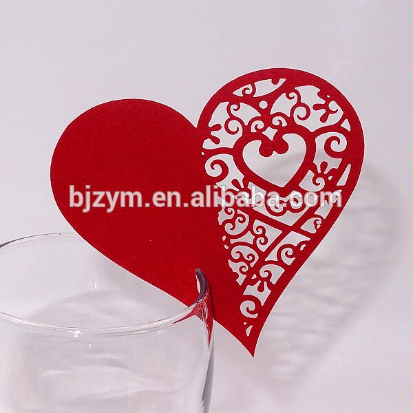 Check out this product on Alibaba.com APP Heart design art laser cut Glass cup cards butterfly crafts table decorating place cards for baby shower birthday party supplies