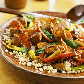 Create a unique dish every time you make this Chicken Tofu Stir-Fry by mixing and matching the vegetables.