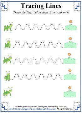 Tracing Lines Worksheets - Curved Lines - Grasshopper hops ...
