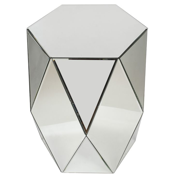 A&B Home Geometric Mirrored Accent Table