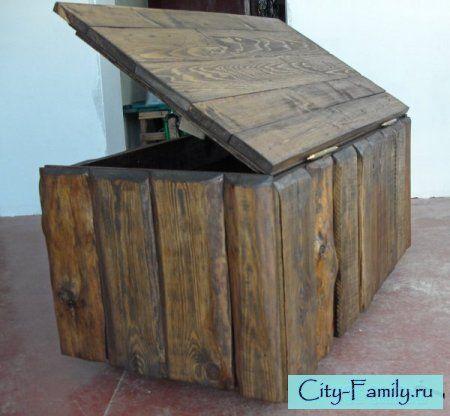 Сундук из фанерного ящика