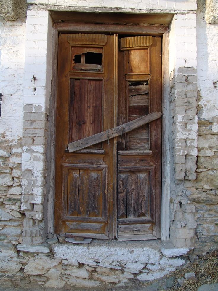 Beautiful old door. Milies Greece