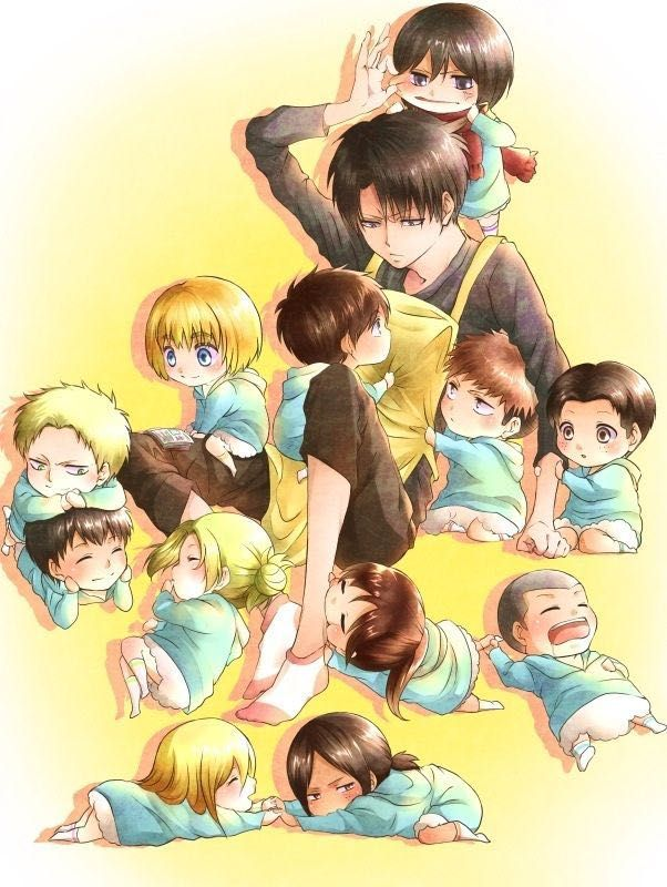 Parents Reader X Child Atot Complete Single Mama X Kid Levi In 2020 Attack On Titan Meme Attack On Titan Attack On Titan Funny