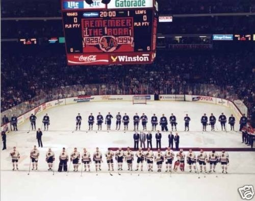 The last Hawks game in The Chicago Stadium...remember the roar.