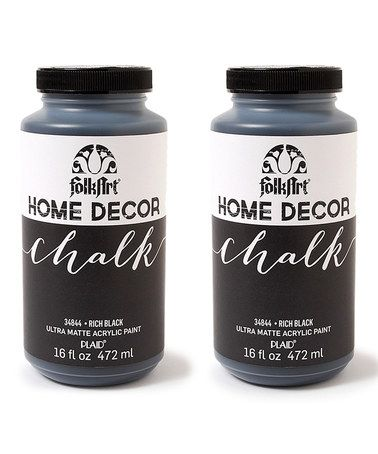 Love this Rich Black 16-Oz. Chalk Paint - Set of Two on #zulily! #zulilyfinds