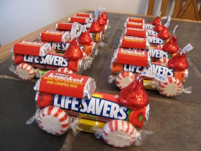 candy train party favor
