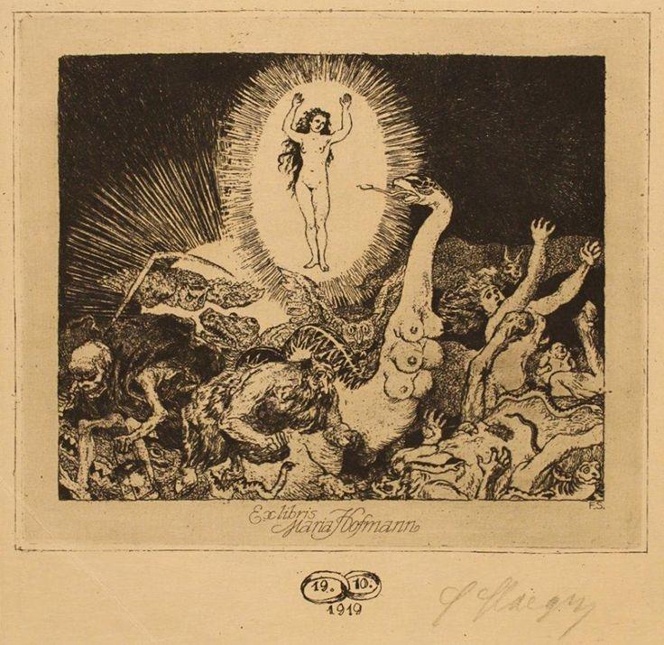 Ex Libris ~ Ferdinand Staeger for Maria Hoffman 1919