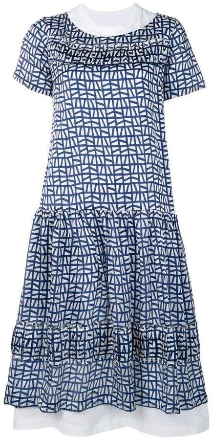 Comme des Garcons geometric print dress