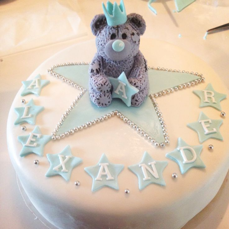 Baby boy christeningcake