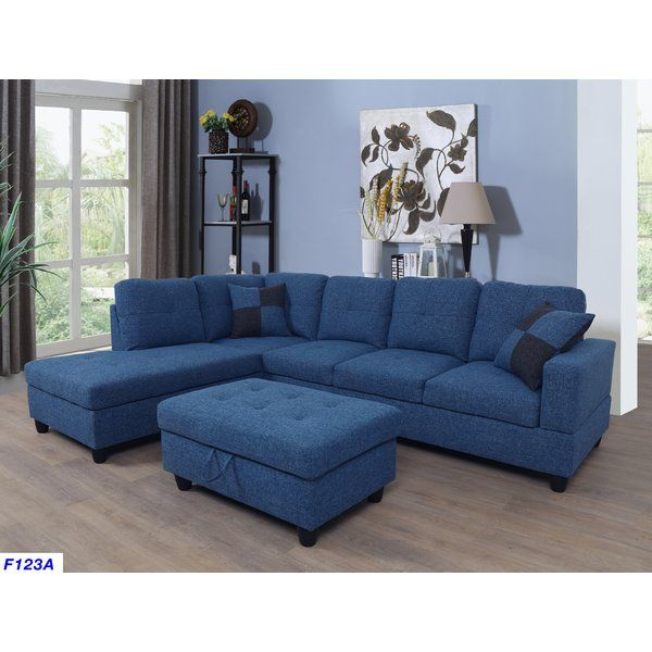 Mauzy Left Hand Facing Sofa Chaise With Ottoman Sectional Sofa Furniture Lifestyle Furniture