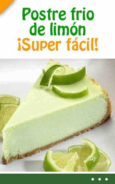 #Postre #frio de #limón. ¡Super #fácil!