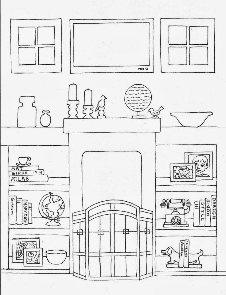 пара картинки раскраски дом мебель отличается других частей