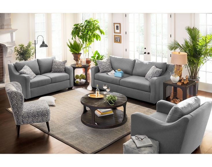 Value City Furniture Living Room Sets >> Graceful Gray. Versatile gray color and classic design ...