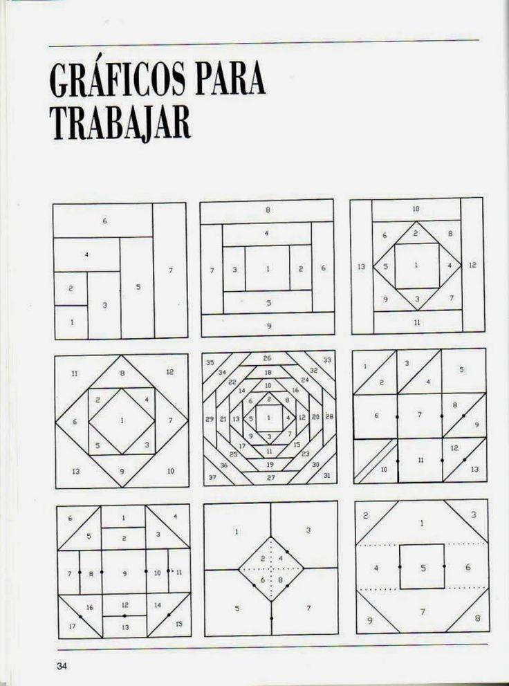 1577 best images about m s bloques patch on pinterest - Patrones para colchas de patchwork ...