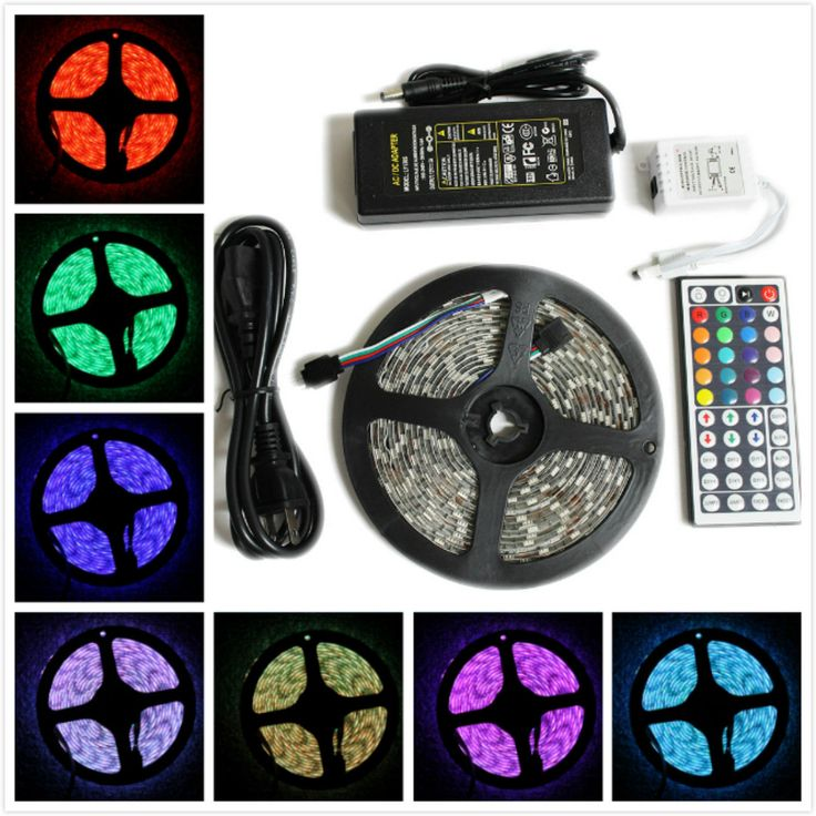 16 Ft Smd Rgb 5050 Waterproof Led Strip Light Kit For Christmas Xmas Decorations