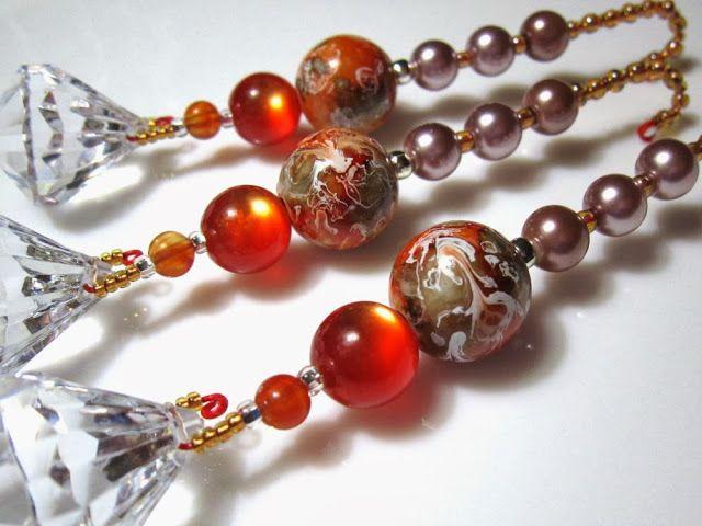 Paint Splotch Acrylic Beads in Diamond Dangles