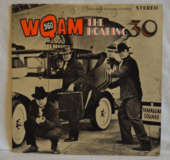Vintage Rare Double Gatefold Record Wqam 560 Roaring 30s
